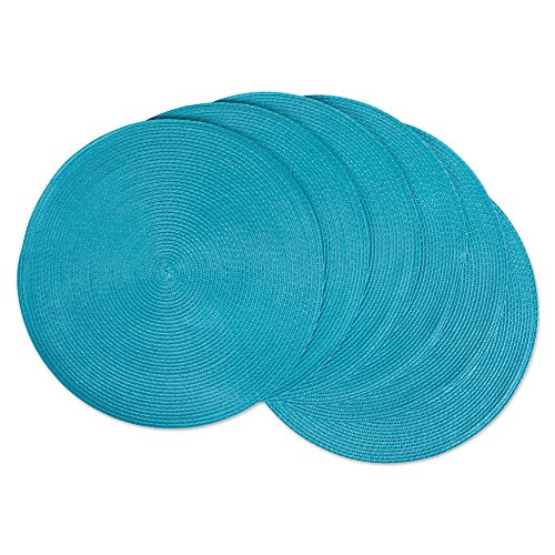 DII, Classic Round Placemats, Woven, Set of 6, 15