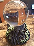 'Belle Vous 80mm Crystal Ball with Glass Stand - K9 Crystal Photography Balls - Glass Ball - Feng Shui Crystal Sphere Ball for Meditation, Healing, Home and Office Decoration - Clear Quartz Crystal
