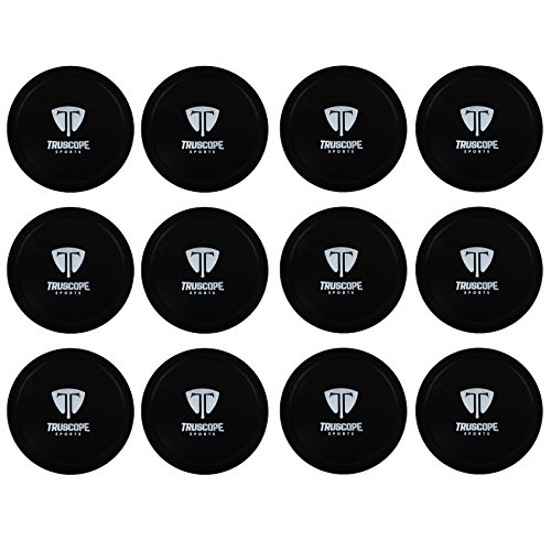 Truscope Sports 12 Pack 3 1/4 Inch Air Hockey Pucks (Black)