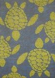 United Weavers of America Panama Jack Sea Turtle Stain Resistant Rug, 5' 3'' x 7' 2'', Lime