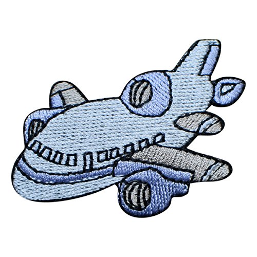 Airplane Applique - Jet Airplane Applique Patch (Iron on)