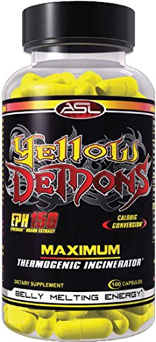 (ASL Yellow Demons Fat Loss/Cutting Supplement & Premium Thermogenic Incinerator, 100)