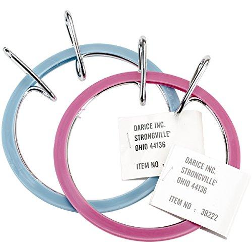 Darice Spring Tension Hoop (Blue Embroidery Hoop)