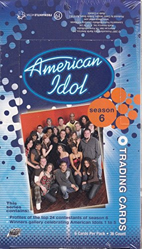 AMERICAN IDOL SEASON 6 2007 COMIC IMAGES SEALED TRADING CARD BOX OF 36 PACKS TV (Comic Images Trading Card Box)