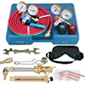 ZENY NEW Portable Gas Welding Cutting Torch Kit w/ Hose, Oxy Acetylene Brazing Professional Set with Case