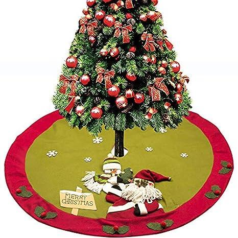 Falda del árbol de Navidad Cocina de Navidad Cubiertos Traje Cubiertos Tenedores Bolsillos Decoración de Mesa