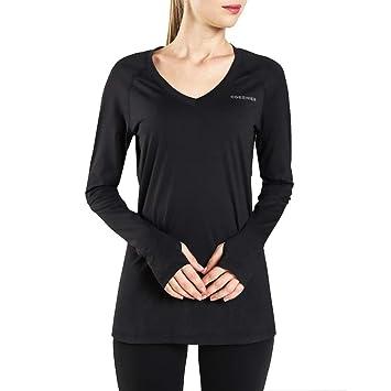 Ogeenier Mujer Camiseta Deportiva de Manga Larga Sin Etiqueta Camisetas de Secado Rápido para Running Fitness Ejercicio: Amazon.es: Deportes y aire libre