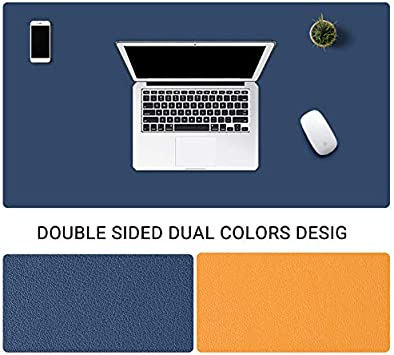 Office Desk Mat Writing Gaming Mouse Pad with Comfortable Writing Surface Waterproof-Brown 130x65cm Pu Leather Desk Blotter 51x26inch