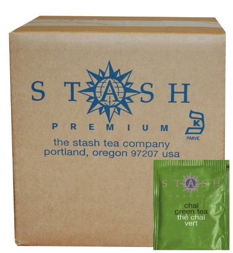 Stash Tea Green Chai Tea, 100 Count Box of Tea Bags in Foil (packaging may vary) Spice Green Tea