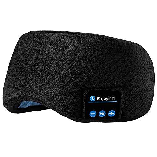 Sleep mask with built in bluetooth headphones