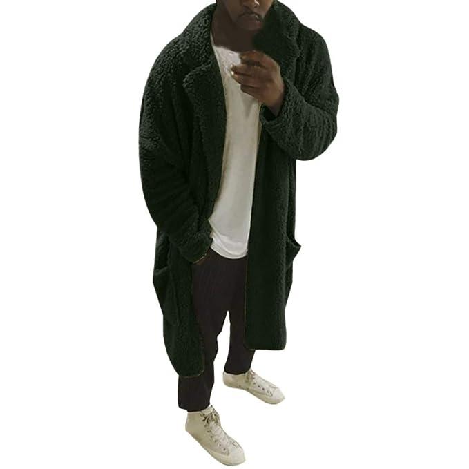 Cardigan da Uomo, Plus Cappotto Imbottito in Velluto con