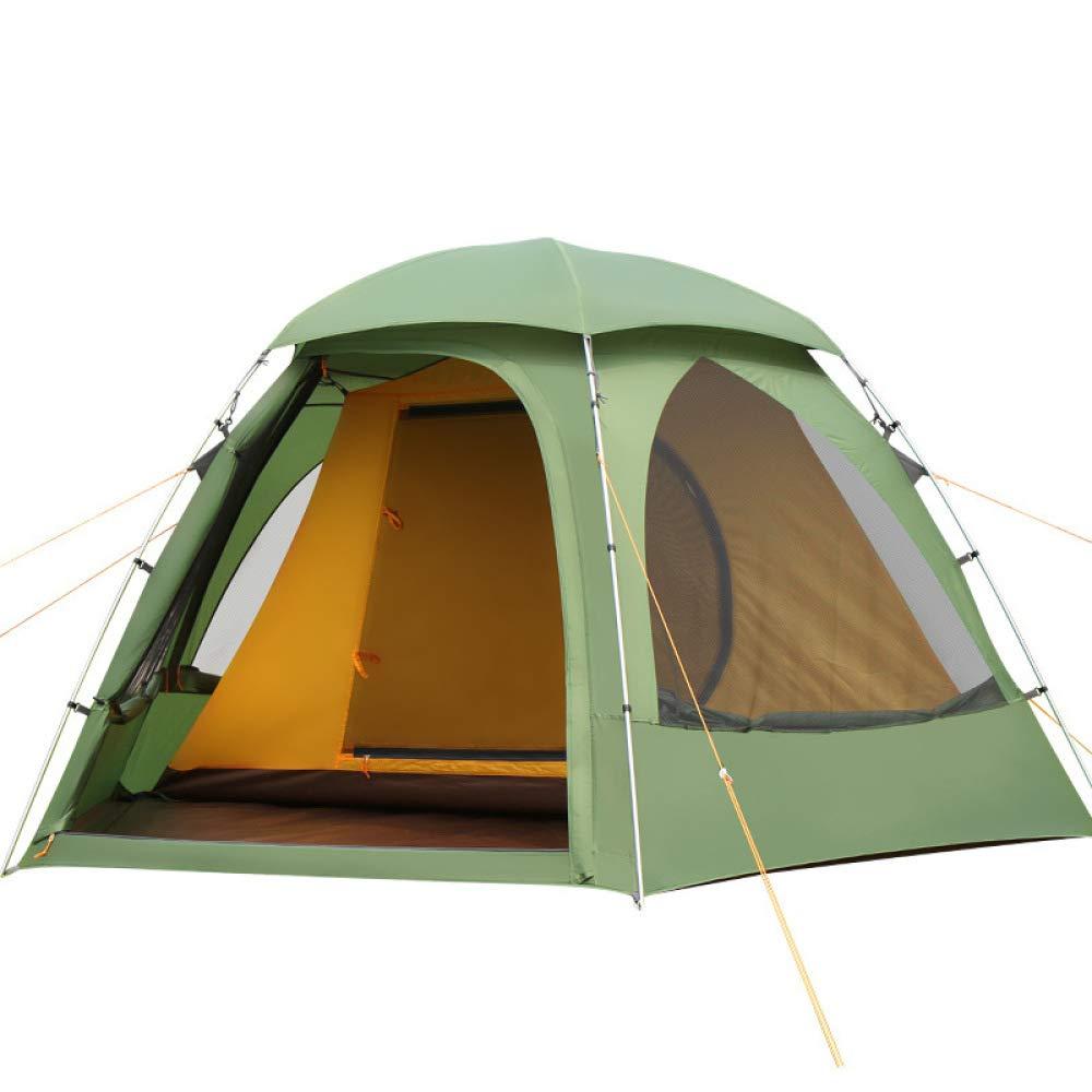 LBAFS Familie Camping Zelt Ein Zimmer Eine Halle Aluminium Pole Beach Zelt Für Outdoor Trip Park Freizeit Angeln, 3-4 Personen,Grün