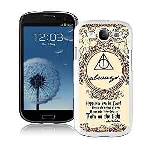 Beautiful Designed Case With Harry Potter White For Samsung Galaxy S3 I9300 Phone Case