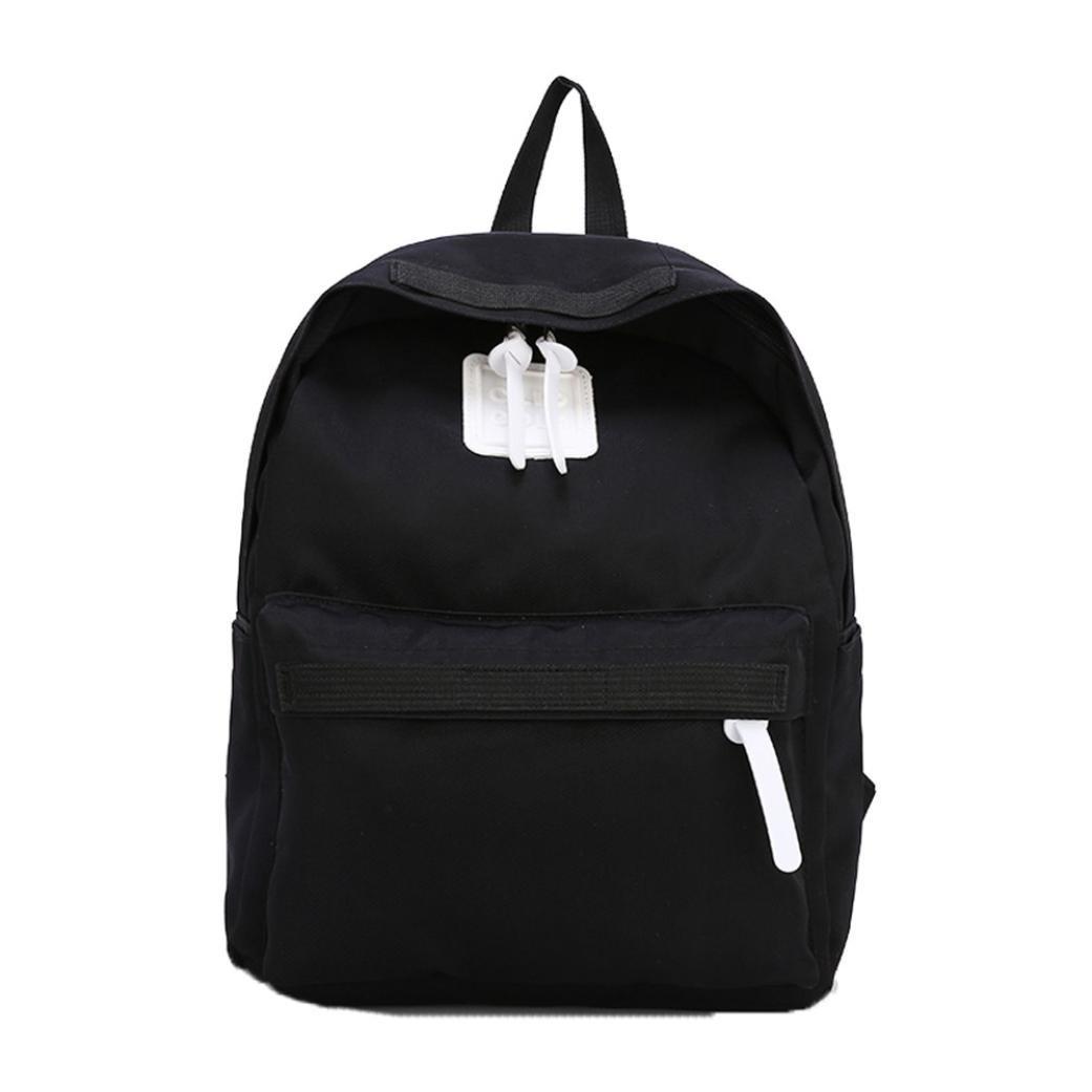 Sinohomie 2018 HOT Shoulder School Bag For Preppy Student ShoppingTravel Backpack Bag (S, Black)