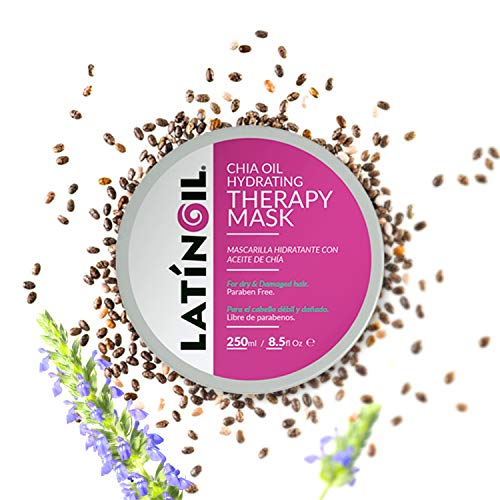 LATINOIL Chia Oil Hair Mask Treatment for Dry Damaged Hair - Deep Conditioner Anti Frizz Hydrating Moisturizer - for Low Porosity, Curly, Color Treated, Split End Hair Repair Masque for Women 8.5 Oz (Best Moisturizer For Low Porosity Hair)