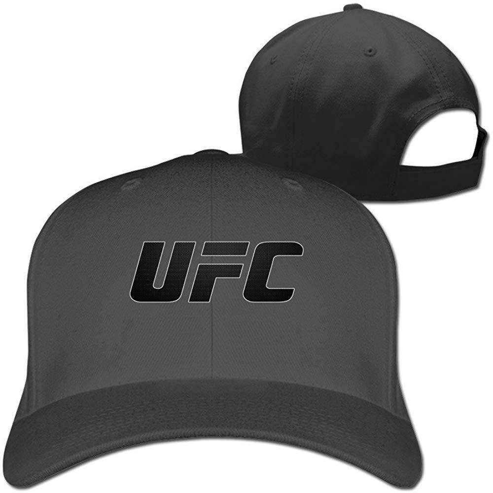 BallainB UFC Black Geo Flat-Along Baseball Hat Dad Black: Amazon ...