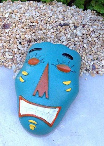 Danike Decor Miniature Dollhouse Fairy Garden Accessories Sea Beach Island Blue Mask]()