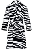Three Cheers for Girls Wild Zebra Robe, Small/Medium