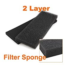 1set Quarium Fish Tank Reusable Biochemical Black Filter Biochemical Cotton Filter Foam Sponge For Fish Tank Pond