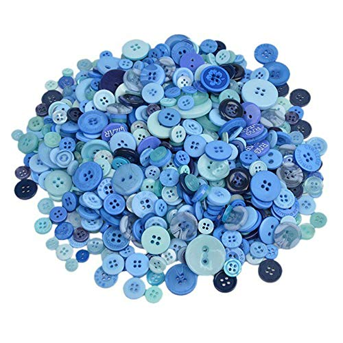 600Pcs Mixed Color 4-Holes Buttons Sewing Craft Scrapbooking