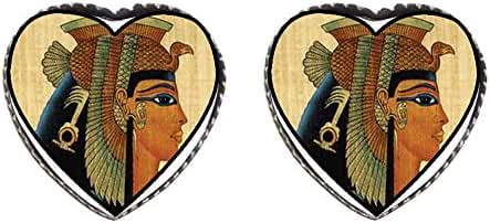 GiftJewelryShop Bronze Retro Style Egyptian Queen Cleopatra Photo Stud Heart Earrings #12