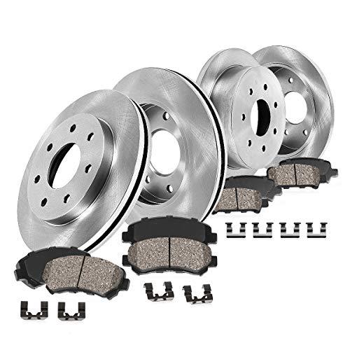 - Callahan FRONT 308 mm + REAR 334 mm Premium OE 7 Lug [4] Rotors + [8] Ceramic Pads + Hardware CRK01339
