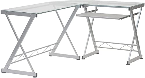 Tempered Glass L Shape Corner Desk