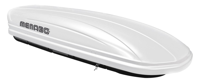 VDP Dachbox wei/ß MAA 460W Auto Dachkoffer 460 Liter abschlie/ßbar F48 Alu-Relingtr/äger Dachgep/äcktr/äger Quick f/ür aufliegende Reling im Set f/ür Alu BMW X1 ab 2015 bis 100kg