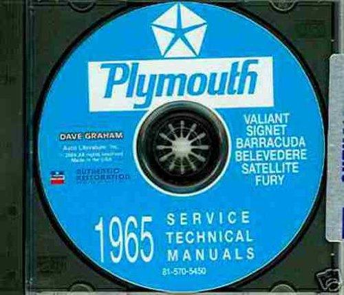 PLYMOUTH 1965 Barracuda Fury Belvedere /& Satellite Shop Manual CD Valiant