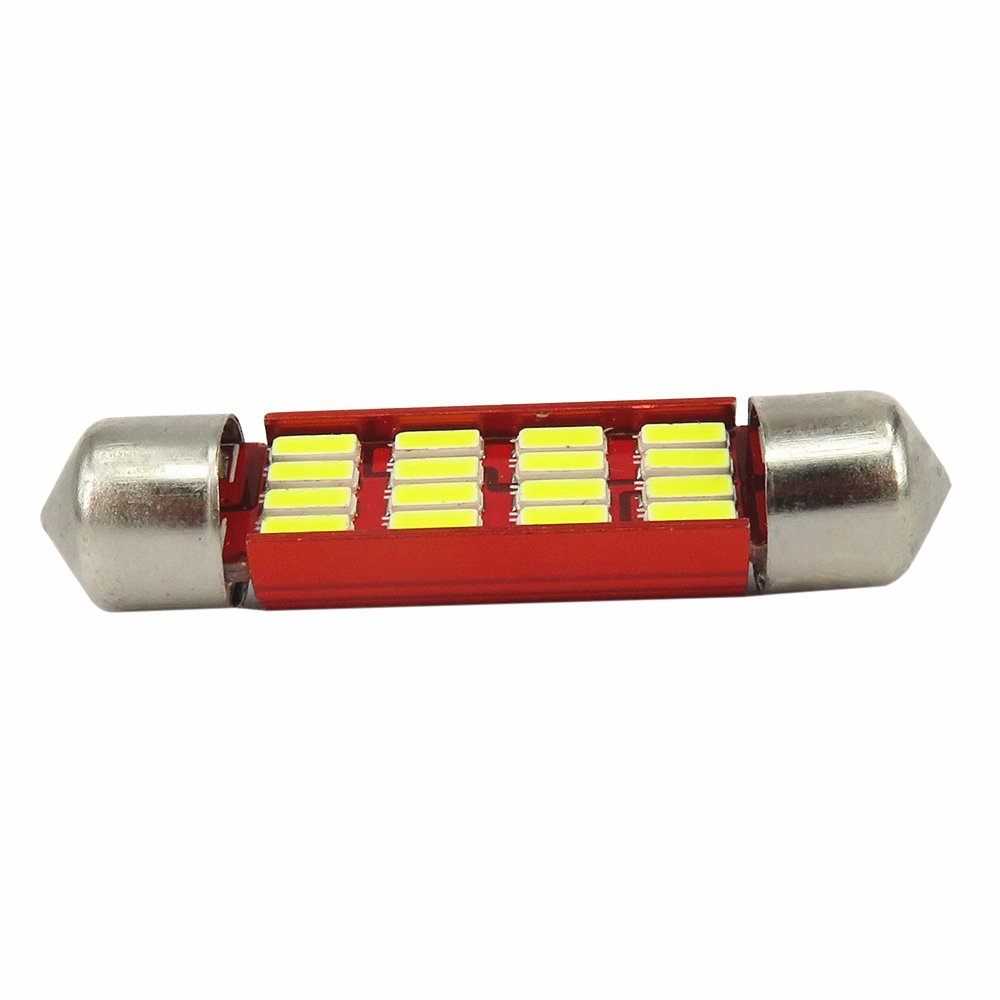 Wljh 2/pcs 4014smd C5/W C10/W 31/mm 36/mm 39/mm 41/mm SV8.5/LED Canbus erreur gratuit Festoon lumi/ères 6000/K Blanc pur pas de polarit/é