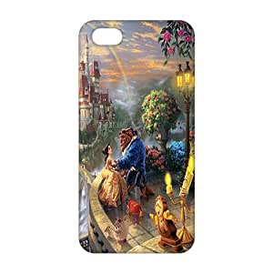 3D cartoon Beauty And Beast For Ipod Touch 4 Phone Case Cover