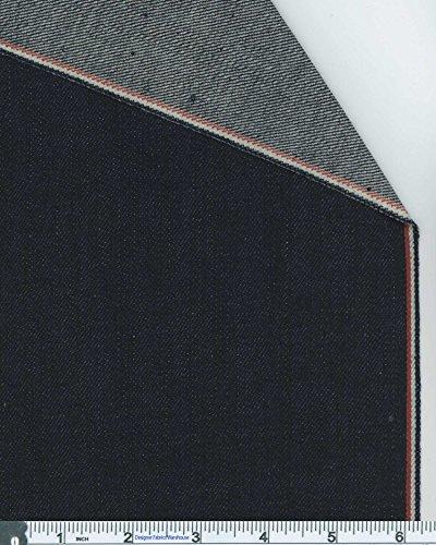 Tri-color Selvedge Japanese Denim Fabric By the Yard, 11.75-oz, Indigo 4444