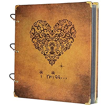 SiCoHome Scrapbook Scrapbooking Album with Gift Box DIY Photo Albums Vintage Style Recording Gifts,Wedding Guestbook,Travel Book