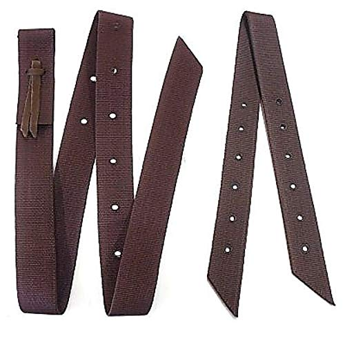 Hill Leather Company Double Ply Brown Nylon Cinch Strap and Off Billet Saddle Set