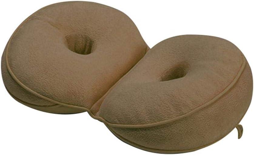 Dual Comfort Cushion Lift Hips Up Cojín de Asiento Cojín de Asiento multifunción, para Dolor de Huesos de la Cola, Dolor de ciática, se Adapta al Asiento de automóvil, hogar, Silla de Oficina