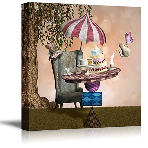 Sailground Wall Art Canvas Paintings Wonderland Series Mad Hatter Banquet Wall Decor with Framed Canvas Prints Ready to Hang for Living Room Office Kitchen Artwork Decor 12