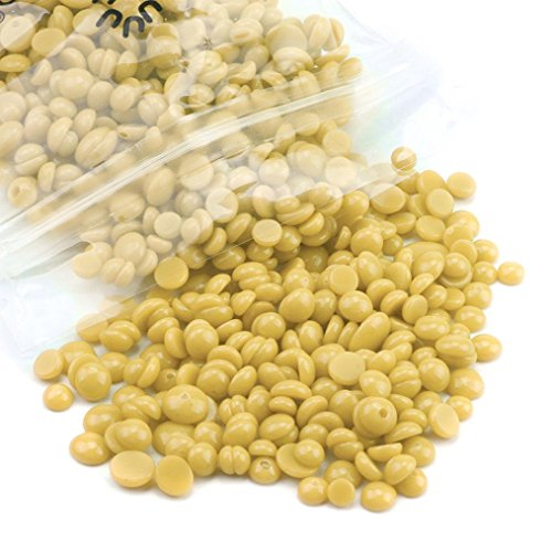 Depilatory Wax Bean, Inkach Unisex Wax Beans Hair Removal Hard Wax Beans Depilatory for Man/Woman Bikini Hair Removal Beans 75g E