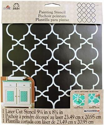 "FolkArt Handmade Charlotte Laser Stencils, 4377 Moroccan Tile, 10\"" x 8-1/2,"