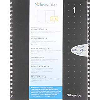 Livescribe A5 Single Subject Notebook #1-4 (4-pack)