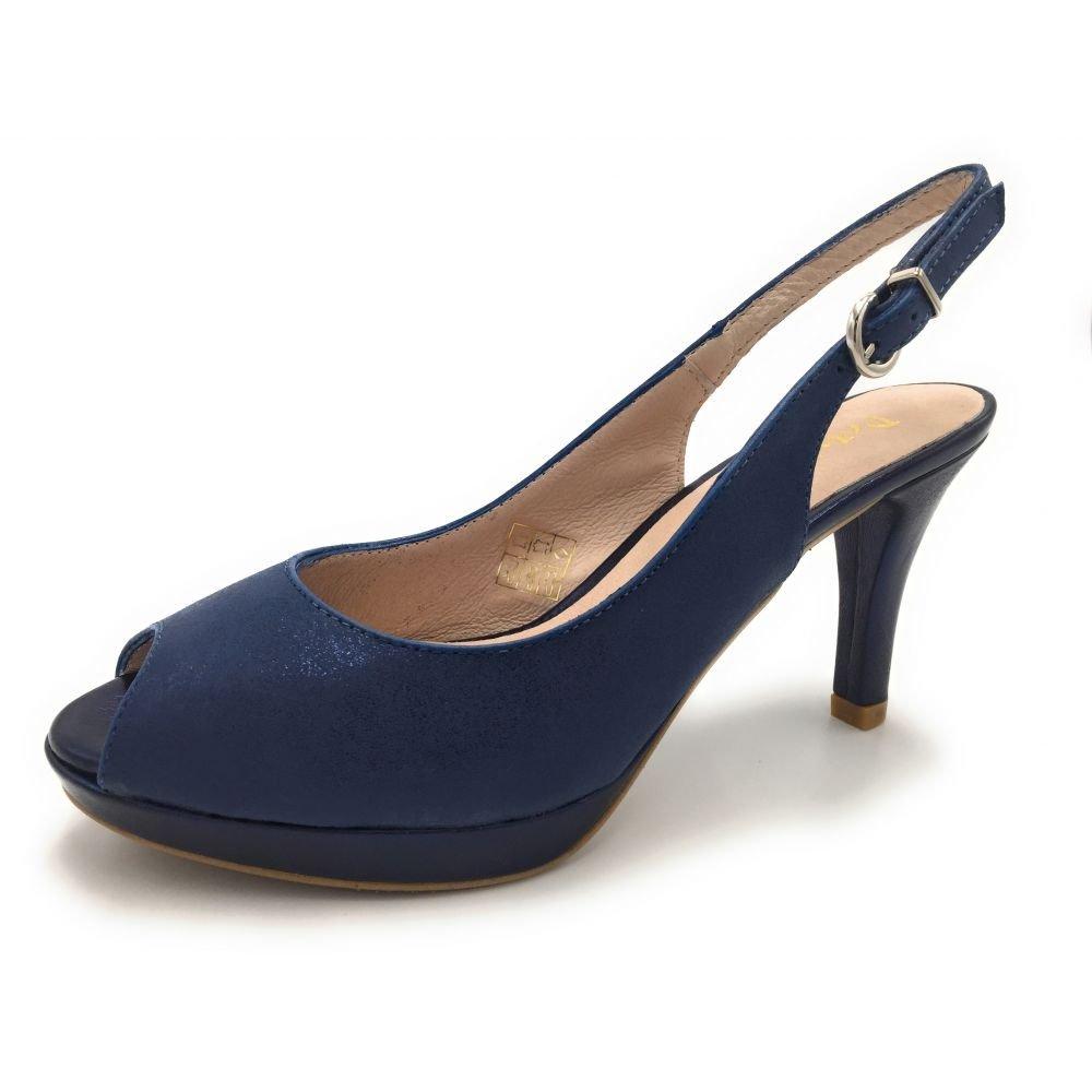 PATRICIA MILLER 1351, Blau Damen Pumps Silber Blau 1351, 5f3a5a