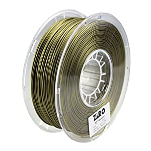 ZIRO 3D Printer Filament PLA 1.75 1KG(2.2lbs), Dimensional Accuracy +/- 0.05mm, Bronze by ZIRO