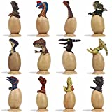 LTCtoy 12 pcs Dino Figures | Baby Dinosaur Decoration with Tray | Realistic Dinosaur for Party, Display and Collection | Gift Box Including T-rex, Triceratops, Velociraptor, etc