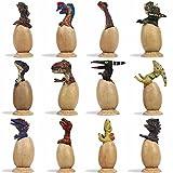 LTCtoy 12 Pieces Realistic Dinosaur Figures - Dinosaur Eggs Set for Desktop Decoration,Dinosaur Toys Dinosaur Party,Dinosaur Gift Box Including T-rex, Triceratops, Velociraptor, Etc