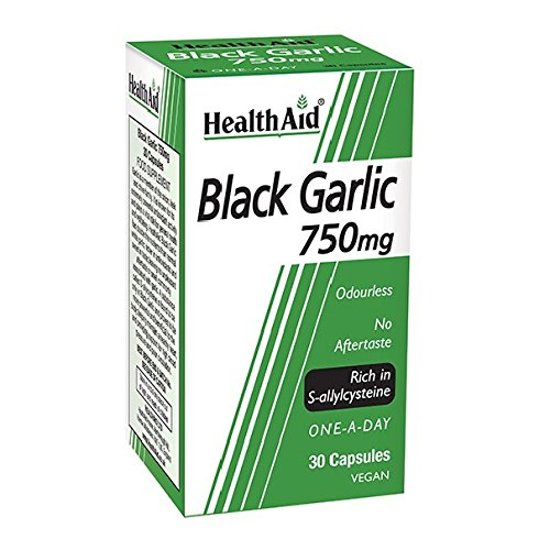 HealthAid Black Garlic 30 Vegicaps 750 mg: Amazon.es: Salud y cuidado personal