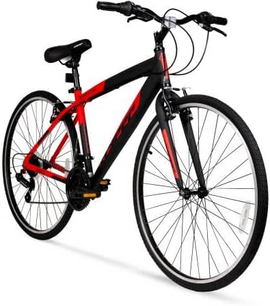 Hyper Bicycle WMA-137003 700c SpinFit Men's Hybrid Bike, Red