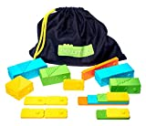 Newmero bricks - stem toys - steam education for boys and girls of 3 4 5 6 7 8 9 year old (57 pieces)