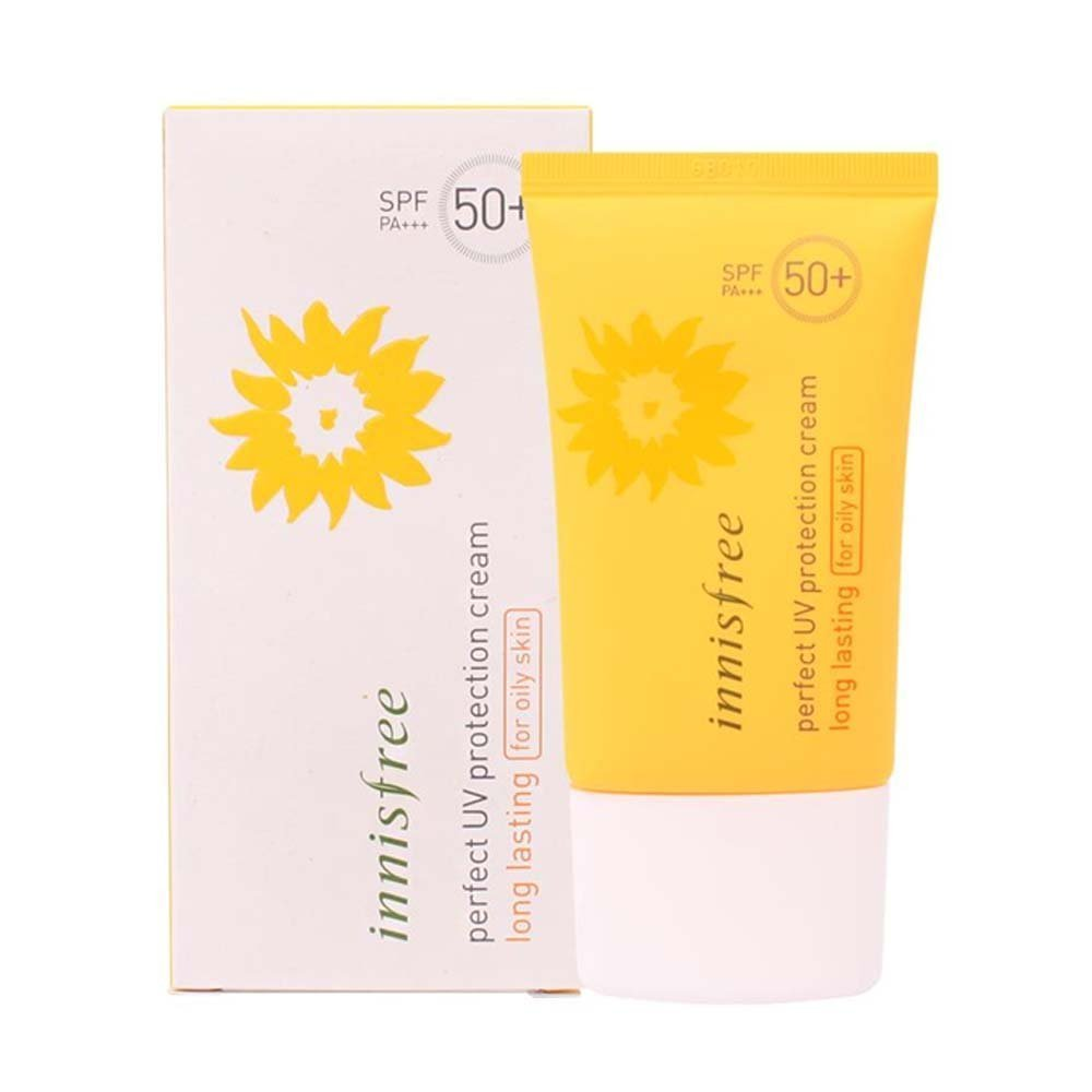 Innisfree: )NEW Perfect UV Protection Cream Long Lasting For Oily Skin 50ml [WATER RESISTANT]