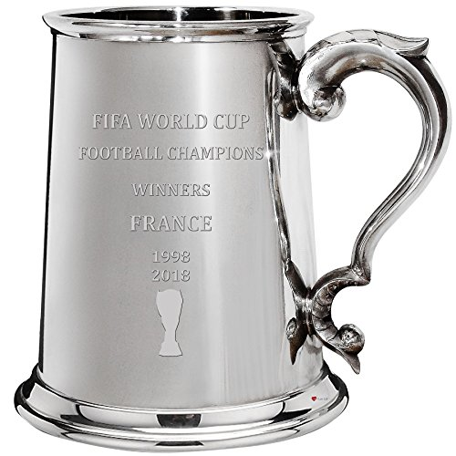 Fifa World Cup Champions France Total Wins 1pt Tankard Pewter