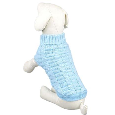 Amazon.com: FUNOC Mascota Perro Cálido Jersey de punto Ropa ...