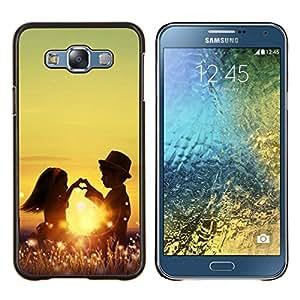 Jordan Colourful Shop - Kids Couple For Samsung Galaxy E7 E7000 Personalizado negro cubierta de la caja de pl????stico